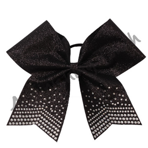 1345- Glitter Bow with Premium Rhinestones on tails