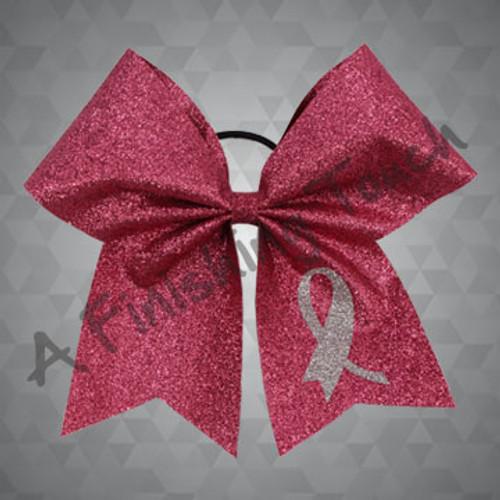 BC1355 - Pink Ribbon Glitter Bow