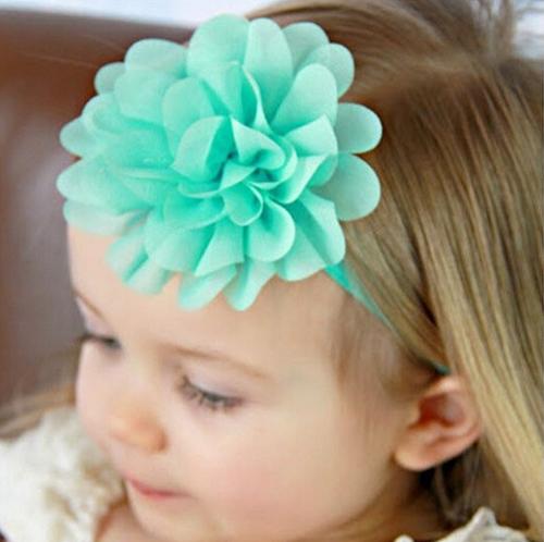1584- Chiffon Flower Headband