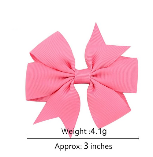 "1564 - 3"" Pinwheel Bow on Alligator Clip"