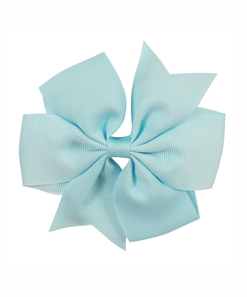 "1624 - 4.5"" Pinwheel Bow on Alligator Clip"
