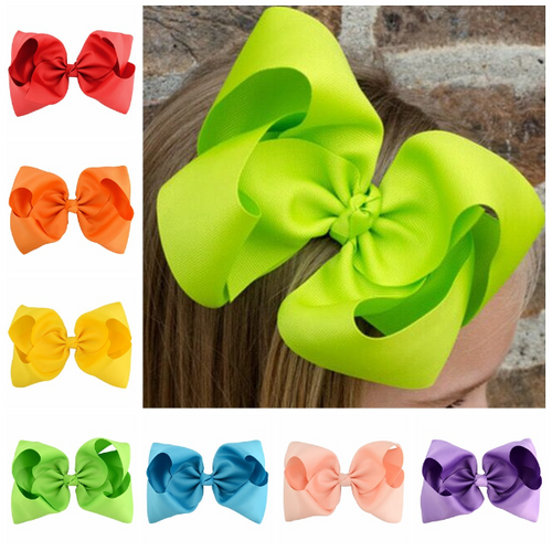 "1678 - 8"" Fluffy Bow on Alligator Clip"