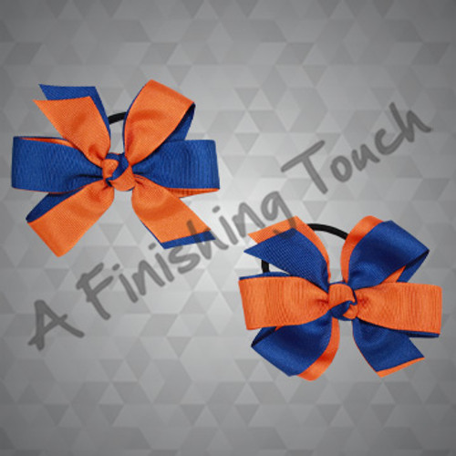 335PT- Two-Layered Cartwheel Pigtail Bows