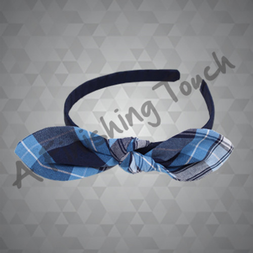 *1470- Fabric Knotted Bow on Medium Headband