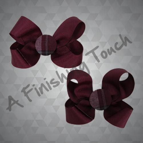 201- Pair of Bows w/ Plaid Center
