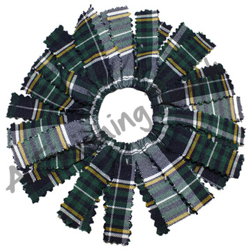 214- Plaid or Solid Pom Pom Scrunchie-ON SALE WHILE QTYS LAST