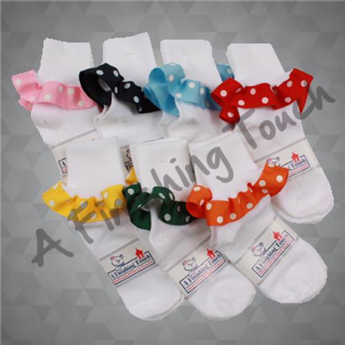 217R- Socks w/ Ribbon