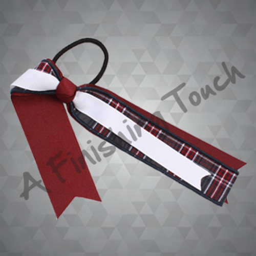 222- Streamer Bow w/Plaid & Ribbon