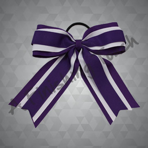 282- Three-Layer Two-Loop Cheer Bow with Streamers