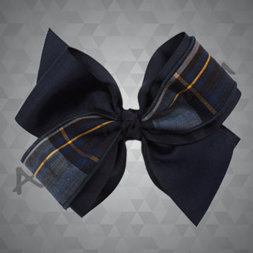 405- Large Four-Loop Bow w/Plaid