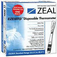 Zeal Disposable Single Use Thermometer x 100