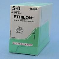 Ethicon Ethilon Nylon Non-Ab. Suture 5-0 X45cm Black(36)