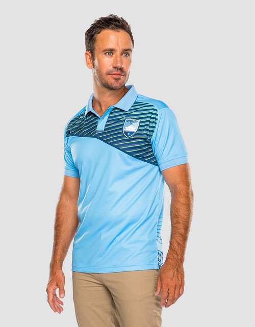 Sydney FC Mens Geo Strike Polo