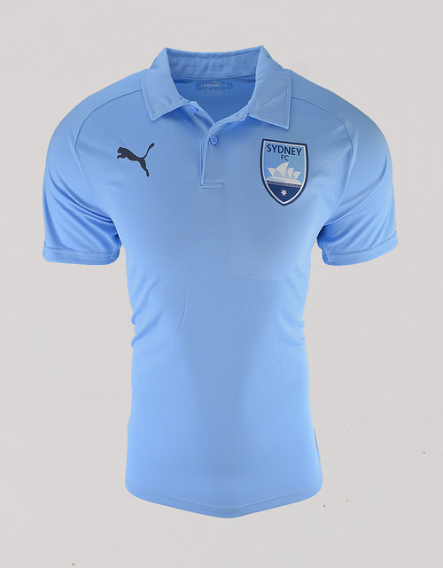 Sydney FC 18/19 Adults Club Polo Sky Blue