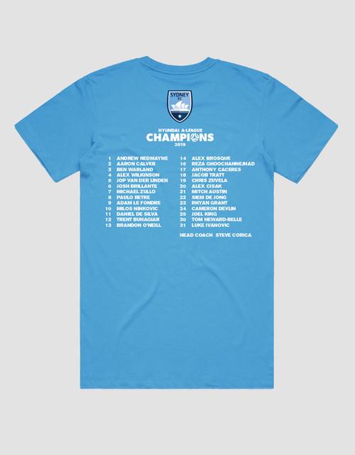 Sydney FC 18/19 Adults Champions Tee