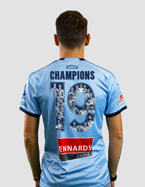 Sydney FC 18/19 Adults Home Jersey - CHAMPIONS 19
