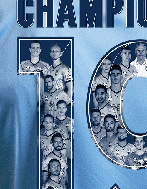Sydney FC 18/19 Womens A-League Home Jersey - CHAMPIONS 19