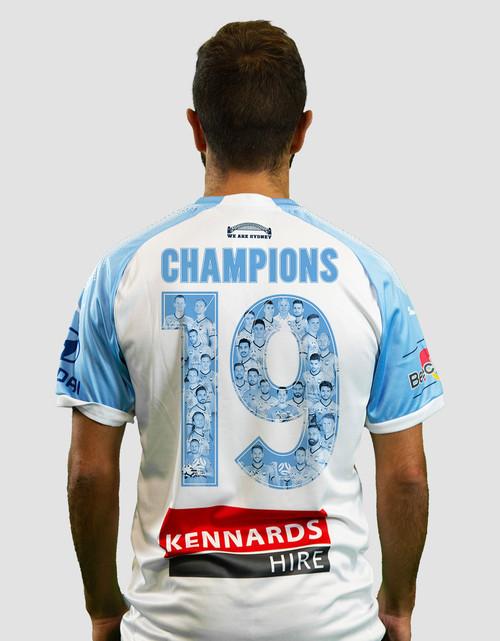 Sydney FC 18/19 Kids Away Jersey - CHAMPIONS 19