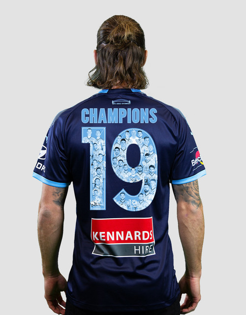 Sydney FC 18/19 Kids Alternate Jersey - CHAMPIONS 19