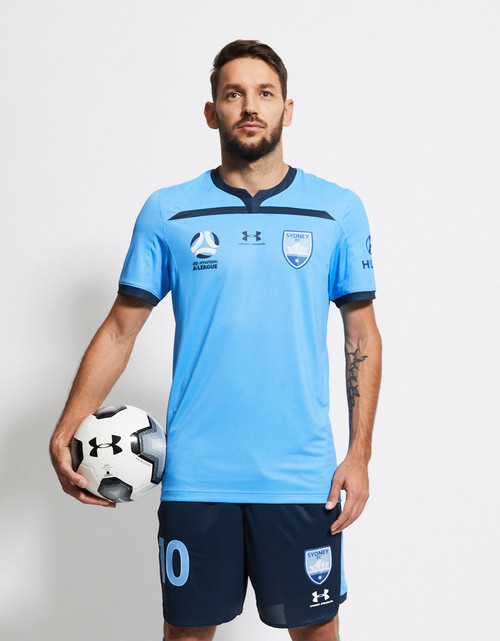Sydney FC 19/20 UA Adults Home Jersey - Customised