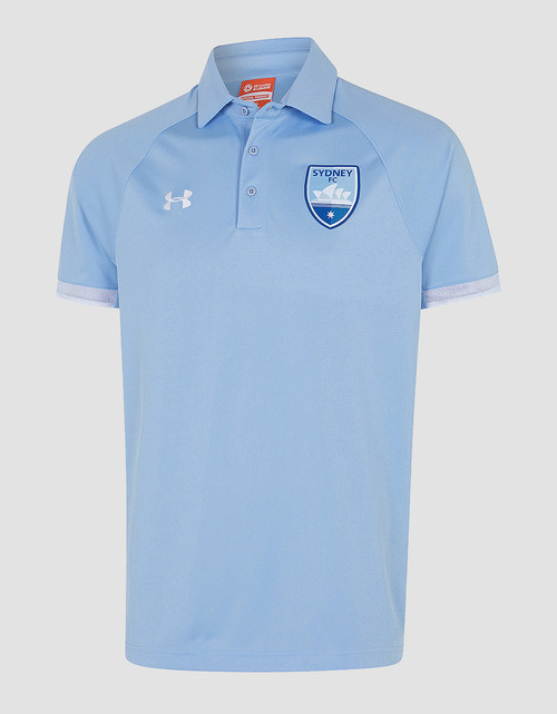 Sydney FC 19/21 UA Adults Team Rival Polo Sky Blue