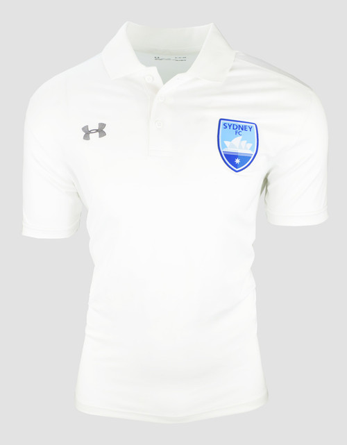 Sydney FC 19/20 UA Adults Team Rival Polo White