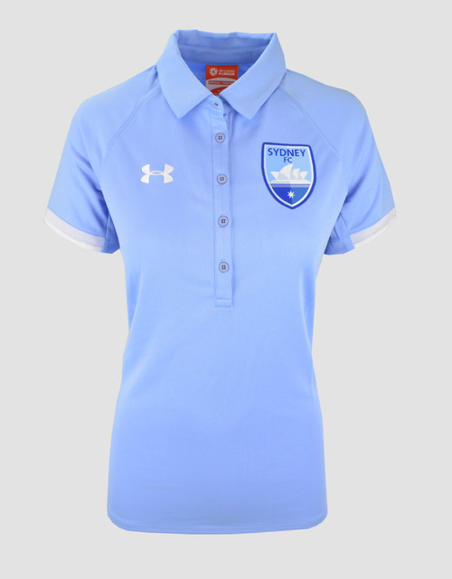 Sydney FC 19/21 UA Womens Team Rival Polo Sky Blue
