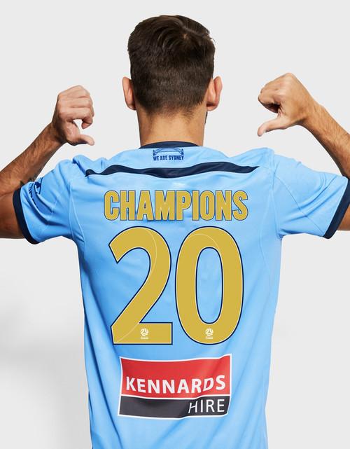 Sydney FC 19/21 UA Adults Home Jersey - CHAMPIONS 20