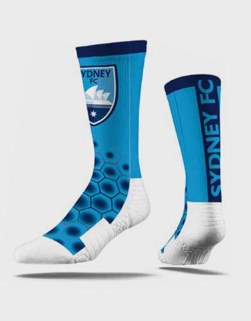 Sydney FC Strideline Comfy Crew Socks