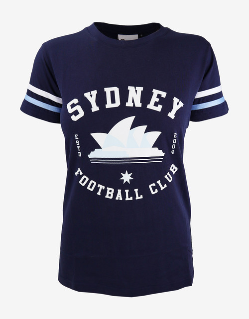 Sydney FC Womens Navy Vintage Tee