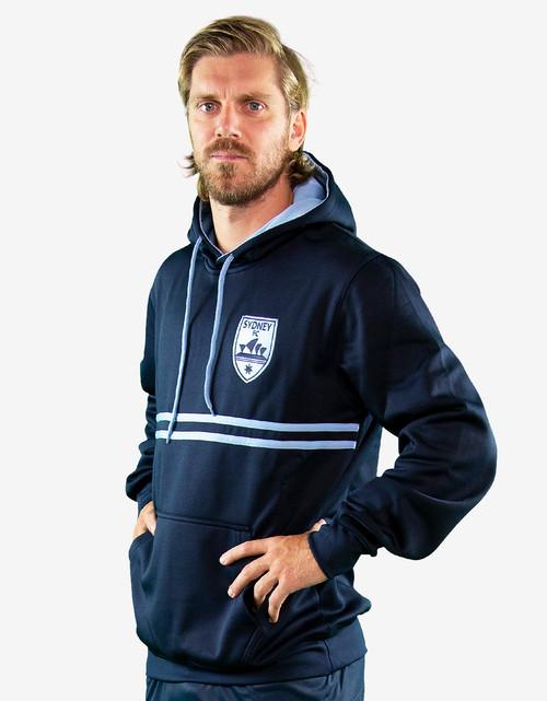 Sydney FC Mens Dual Stripe Hoody