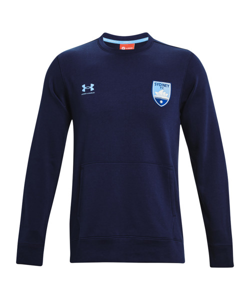 Sydney FC 21/22 UA Adults Hustle Fleece Navy