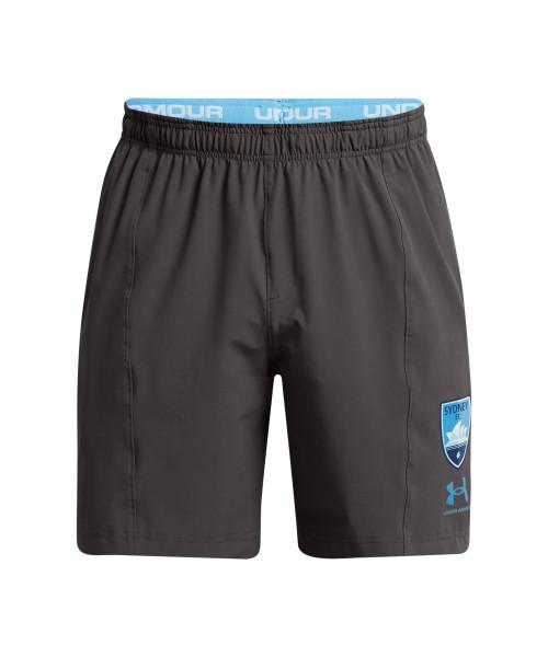 Sydney FC 21/22 UA Adults Touchline Training Shorts Charcoal