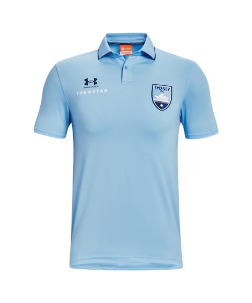 Sydney FC 21/22 UA Adults Club Polo Sky Blue