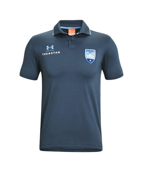 Sydney FC 21/22 UA Adults Club Polo Navy