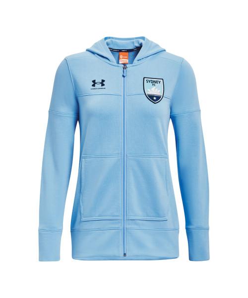 Sydney FC 21/22 UA Womens Rival Hoody Sky Blue