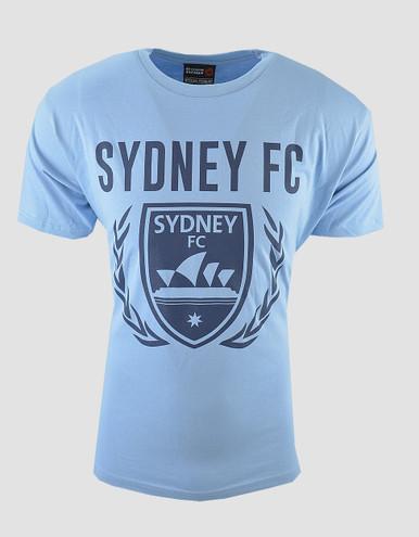 A League Soccer! Sydney FC Sky Blues Classic Core T Shirt Size S-5XL