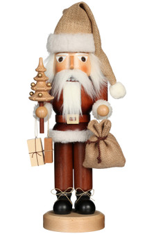 Ulbricht Natural Wooden Nutcracker Santa