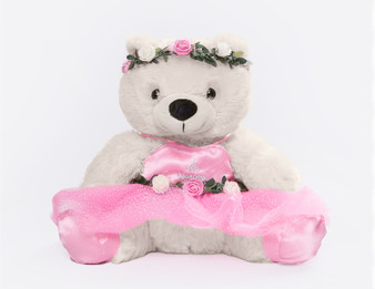 Moscow Ballet's White Waltz of the Flowers Plush Bear