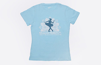 Moscow Ballet 2018 Cast Tee Light Blue Front