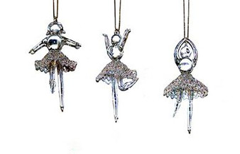 Moscow Ballet's classic set of 3 glass ballerina ornaments