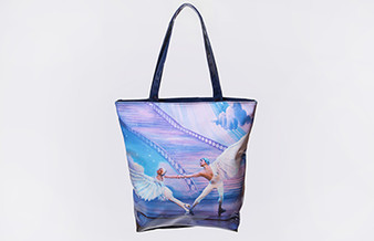 Moscow Ballet's Great Russian Nutcracker exclusive Dove of Peace Tote Bag Blue Front Design