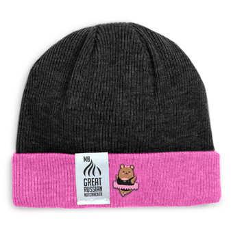 Moscow Ballet's Popo Beanie Hat black and pink