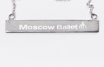 Moscow Ballet's Branded Bar Sterling Silver Necklace