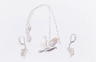 Moscow Ballet's Dove of Peace Jewelry Set with Swarovski Elements