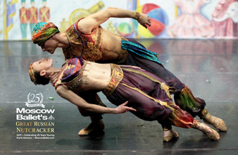Moscow Ballet's 25th Anniversary Poster of the Arabian Variation from the Great Russian Nutcracker