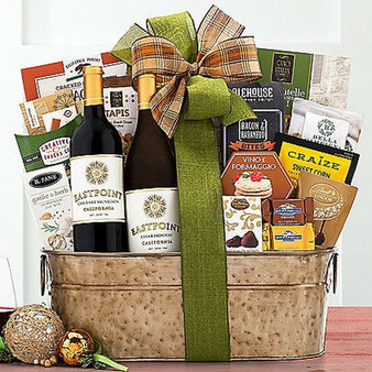 Eastpoint Cellars Coastal Duet: Gourmet Wine and Snacks Basket