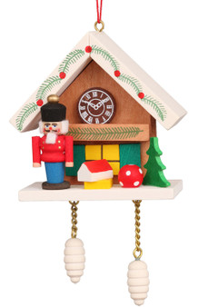 Ulbricht nutcracker cuckoo clock ornament brown