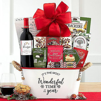 Kiarna Vineyards Cabernet Sauvignon Holiday Wine and Snacks Basket