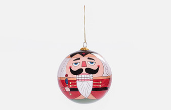 Moscow Ballet's Great Russian Nutcracker Globe Ornament Red Nutcracker 2018 Front